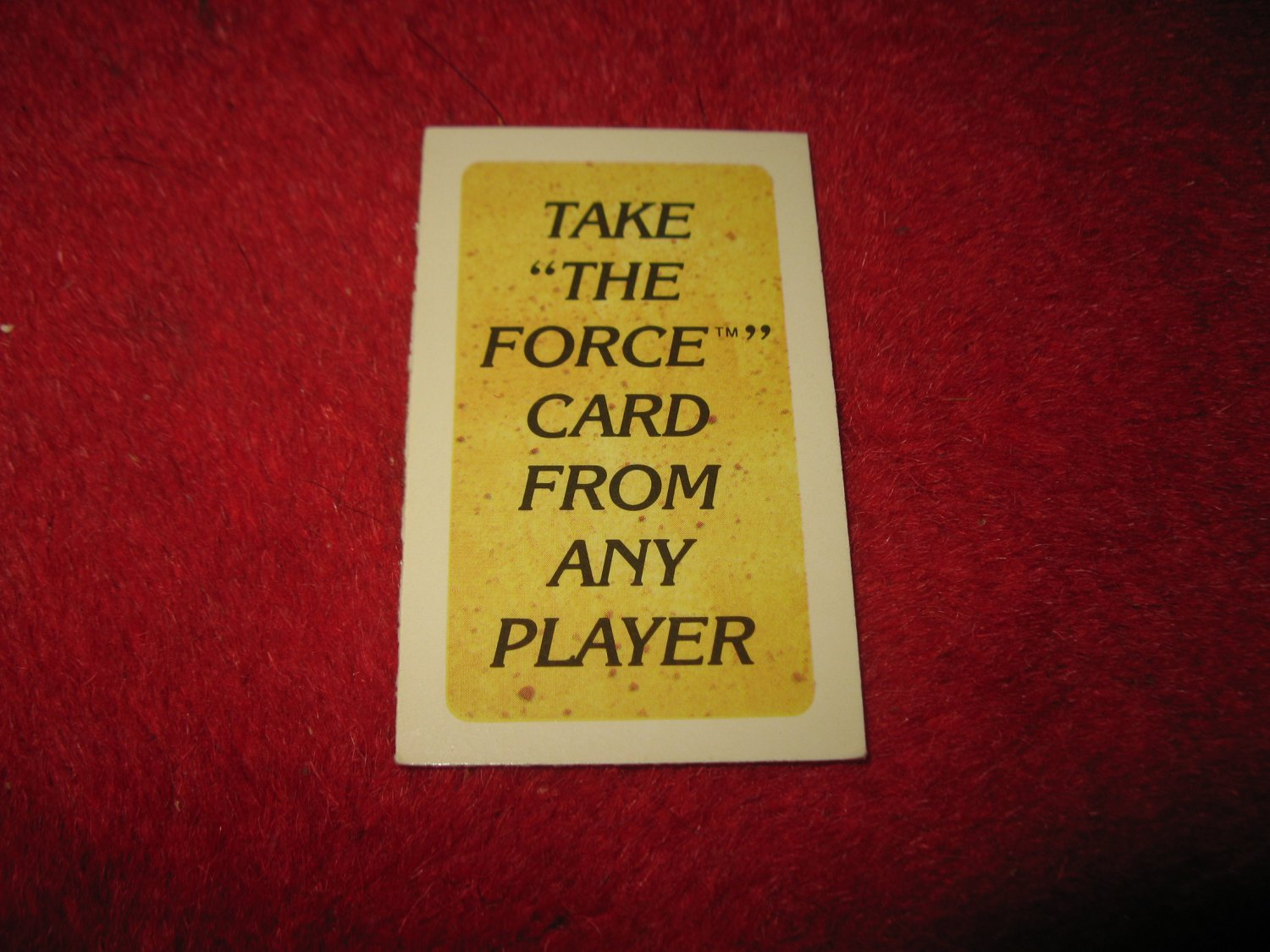 1983 Star Wars; Battle at Sarlacc's Pit Board Game Piece: 'Take the Force Card' Game Card
