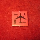 1988 The Hunt for Red October Board Game Piece: Bear red Square Counter