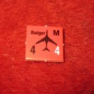 1988 The Hunt for Red October Board Game Piece: Badger red Square Counter