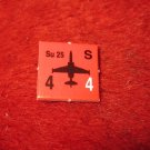 1988 The Hunt for Red October Board Game Piece: Su 25 red Square Counter