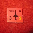 1988 The Hunt for Red October Board Game Piece: Yak 38 red Square Counter