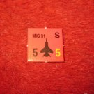 1988 The Hunt for Red October Board Game Piece: MIG 31 red Square Counter