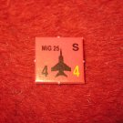 1988 The Hunt for Red October Board Game Piece: MIG 25 red Square Counter