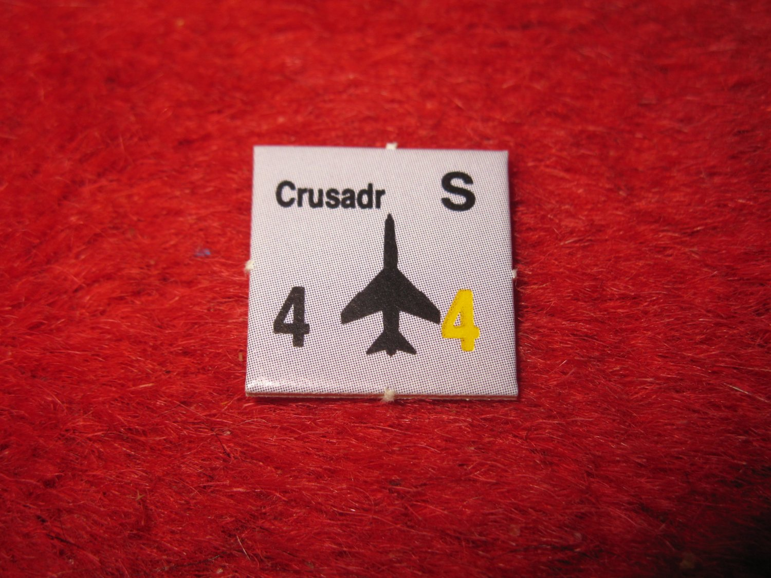 1988 The Hunt for Red October Board Game Piece: Crusadr blue Square Counter