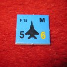 1988 The Hunt for Red October Board Game Piece: F-15 blue Square Counter