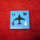 1988 The Hunt for Red October Board Game Piece: A-6 blue Square Counter
