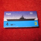 1988 The Hunt for Red October Board Game Piece: Foch Blue Ship Tab- NATO