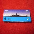 1988 The Hunt for Red October Board Game Piece: Iowa Blue Ship Tab- NATO