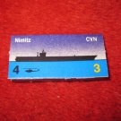 1988 The Hunt for Red October Board Game Piece: Nimitz Blue Ship Tab- NATO