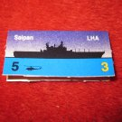 1988 The Hunt for Red October Board Game Piece: Saipan Blue Ship Tab- NATO