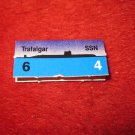 1988 The Hunt for Red October Board Game Piece: Trafalgar Blue Ship Tab- NATO