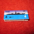 1988 The Hunt for Red October Board Game Piece: Knox Blue Ship Tab- NATO