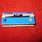 1988 The Hunt for Red October Board Game Piece: Ticndrg Blue Ship Tab- NATO