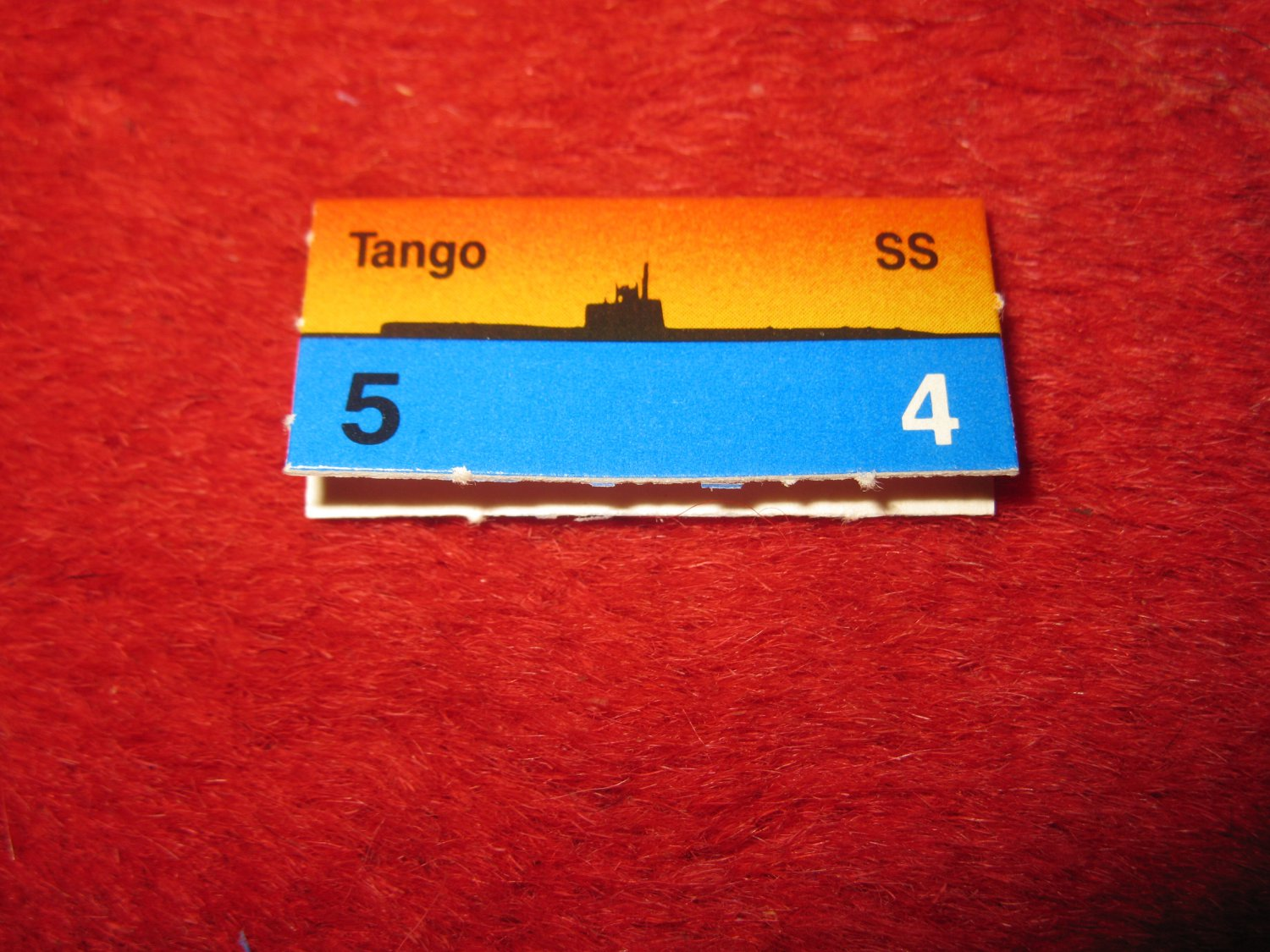 1988 The Hunt for Red October Board Game Piece: Tango Red Ship Tab- Soviet