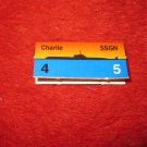 1988 The Hunt for Red October Board Game Piece: Charlie Red Ship Tab- Soviet