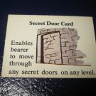 1980 TSR D&D: Dungeon Board Game Piece: Treasure 3rd Level Card- Secret Door