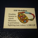1980 TSR D&D: Dungeon Board Game Piece: Treasure 5th Level Card- ESP Medallion