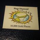 1980 TSR D&D: Dungeon Board Game Piece: Treasure 6th Level Card- Huge Diamond