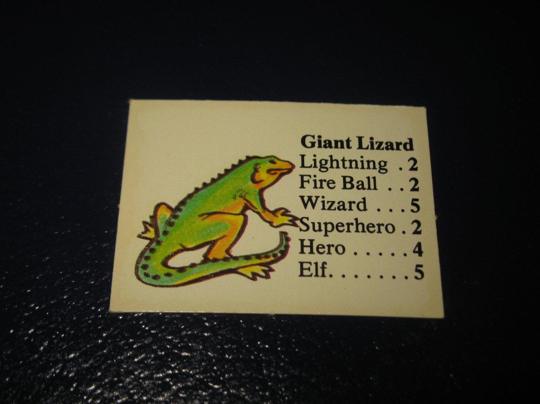 1980 TSR D&D: Dungeon Board Game Piece: Monster 2nd Level - Giant Lizard