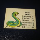 1980 TSR D&D: Dungeon Board Game Piece: Monster 3rd Level - Giant Snake