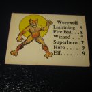 1980 TSR D&D: Dungeon Board Game Piece: Monster 4th Level - Werewolf