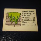 1980 TSR D&D: Dungeon Board Game Piece: Monster 4th Level - Geen Slime