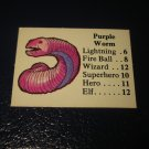 1980 TSR D&D: Dungeon Board Game Piece: Monster 5th Level - Purple Worm