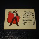 1980 TSR D&D: Dungeon Board Game Piece: Monster 5th Level - Vampire