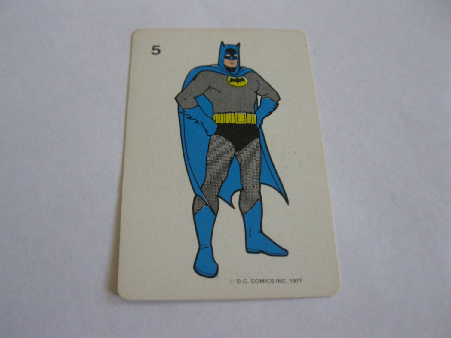 1977 DC Comics Game Card #5: Batman