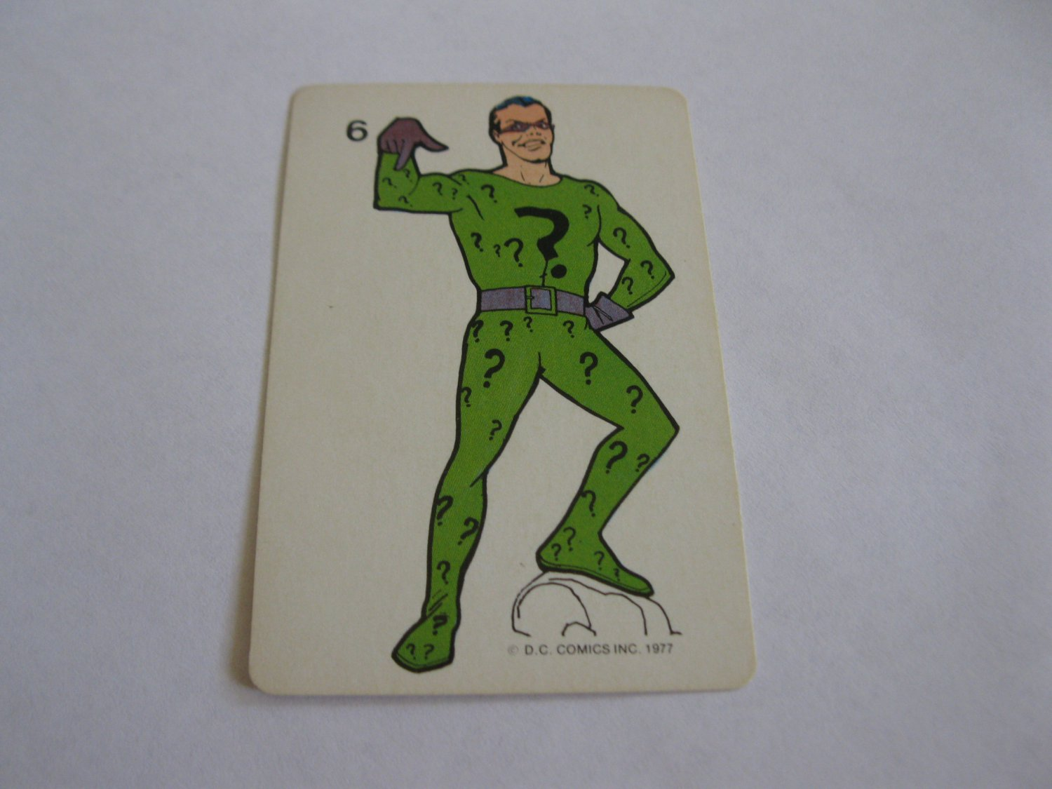 1977 DC Comics Game Card #6: The Riddler