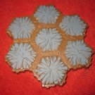 2004 - Heroscape Board Game Piece: Gray Mountain land 7-way hex tile