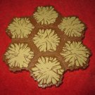 2004 - Heroscape Board Game Piece: Tan Desert land 7-way hex tile