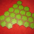 2004 - Heroscape Board Game Piece: Green Grass land 24-way hex tile