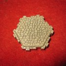 2004 - Heroscape Board Game Piece: Gray Granite Castle Land 1-way hex tile