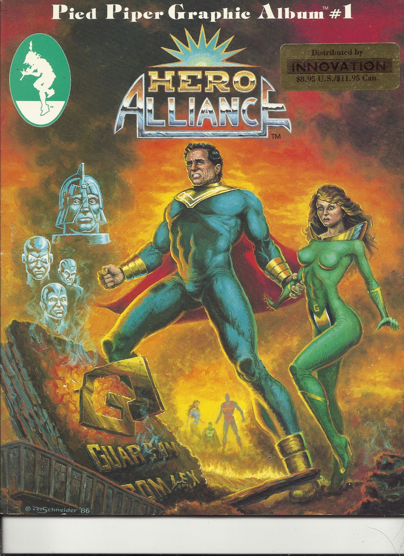 1986 Vintage Pied Piper Grahpic Album Magazine: Hero Alliance