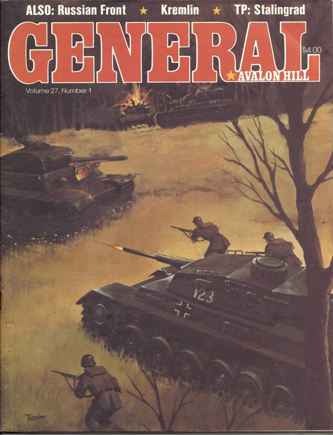 1991 Vintage Game Magazine: Avalon HIll- General Vol. 27 #1