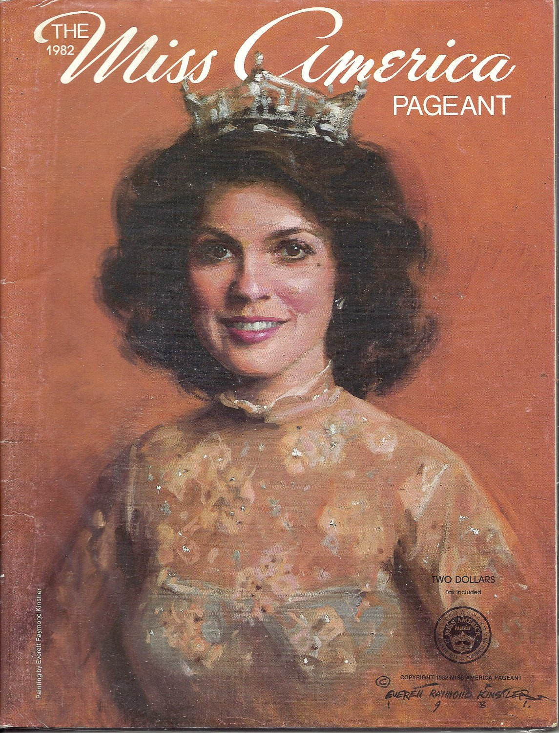 1982 Vintage Magazine Program: The Miss America Pageant 1982