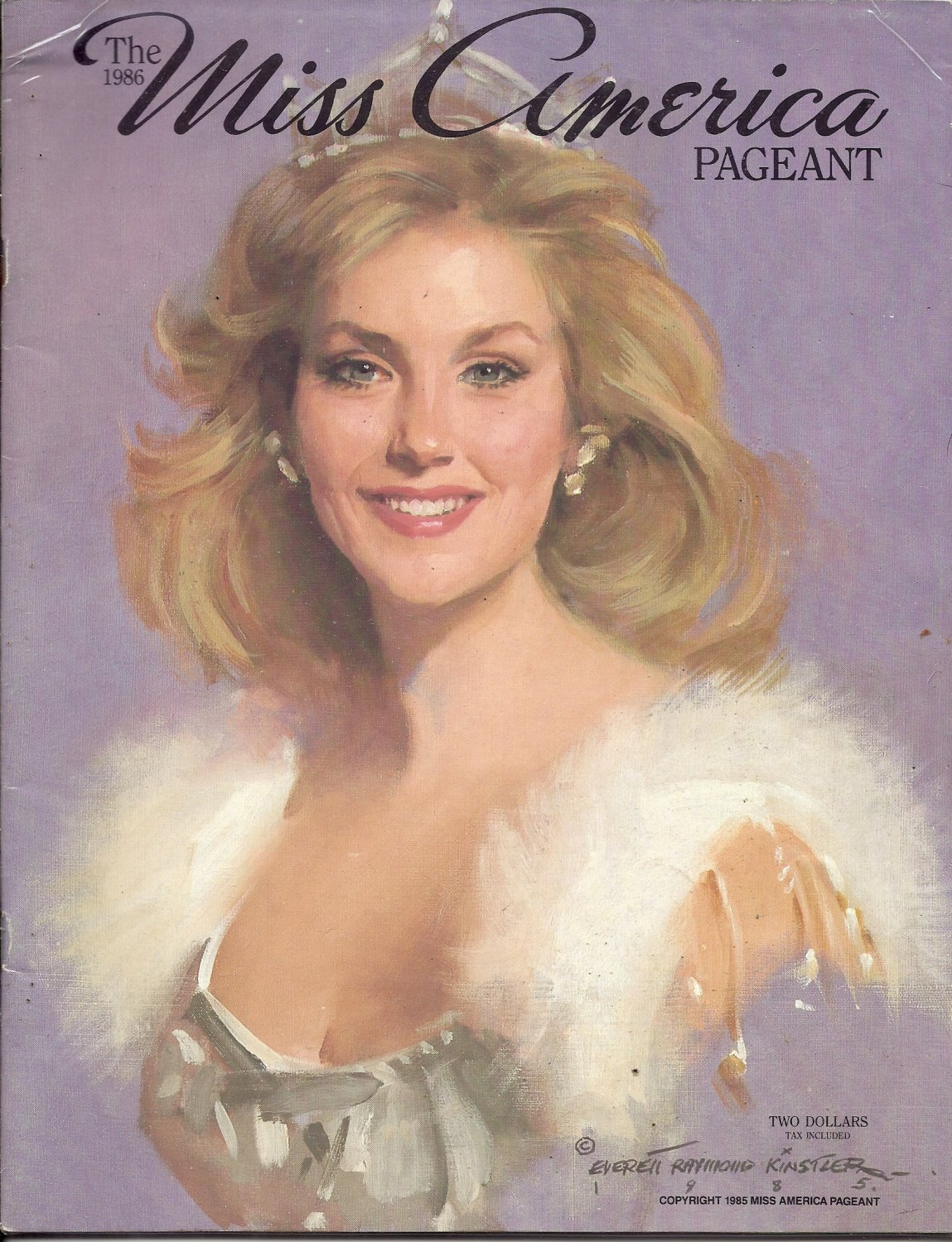 1986 Vintage Magazine Program: The Miss America Pageant 1986