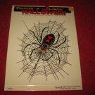 1988 Remmer 'Ghoul Friends' Halloween Window Decoration #HS-11: Black Widow Spider on web- MISP