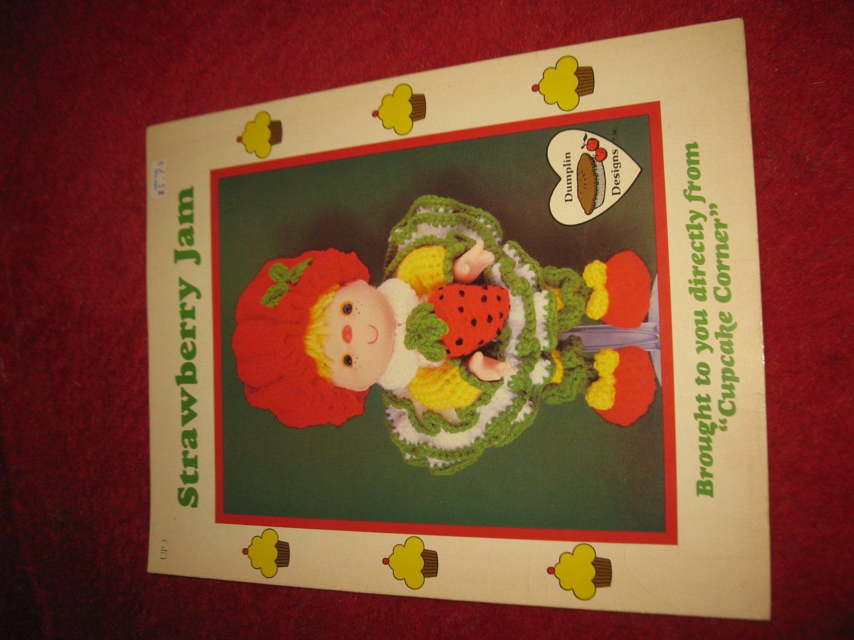 1984 Lollipop Lane 'Dumplin Designs' Doll pattern folder #UP-3: Strawberry jam