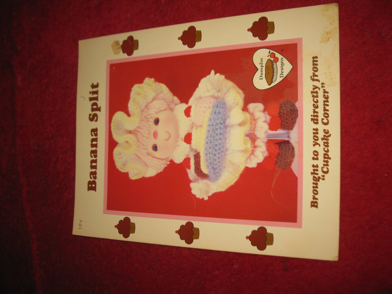 1984 Lollipop Lane 'Dumplin Designs' Doll pattern folder #UP-6: Banana Split