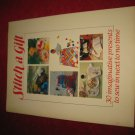 1984 Stitch A Gift pattern booklet by Torstar Boks: 30 imaginative present patterns