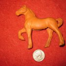 Vintage 1950's Auburn Rubber Miniature Playset figure: Hollow body Maroon Horse