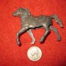 Vintage 1950's Miniature Playset figure: Hollow Body Gray Horse, needs Rider