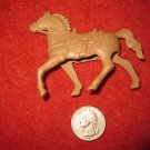 Vintage 1950's Miniature Playset figure: Hollow Body Light Brown Horse, needs Rider