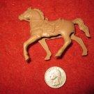Vintage 1950's Miniature Playset figure: Hollow Body Light Brown Horse, needs Rider