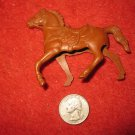 Vintage 1950's Miniature Playset figure: Hollow Body Brown Horse, needs Rider