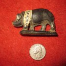 Vintage 1960's Auburn Rubber Miniature Playset figure: Black Hog/ Pig with white stripe