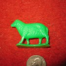 Vintage Marx..? Miniature Playset figure: Green Plastic Sheep