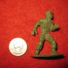 Vintage Miniature Playset figure: RARE MPC #44 Green Plastic Toy Soldier w/ Removedable gun